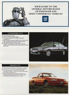 Holden Range Brochure 1991 inc. Commodore SS Statesman Ute and others NZ