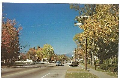 North Conway New Hampshire NH Street View Postcard Chrome Rudy's Wholesale