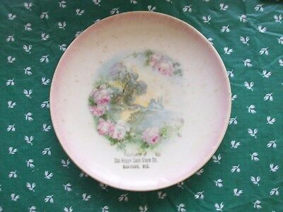 """Rare Antique Early 1900s Hartford Wi THE HEPPE CASH STORE CO Flower Plate 7.5 """""""