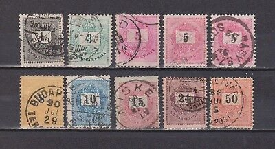 Hungary - 10 Very Old Stamps (2 Scans - Some Small Thins)