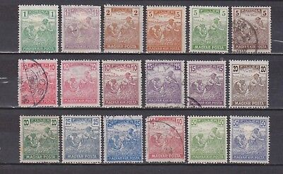 Hungary - Reaper - 18 Stamps - Mh/used