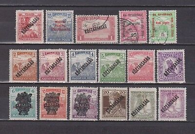 Hungary - Overprinted Stamps - 17 Different - Mh/used