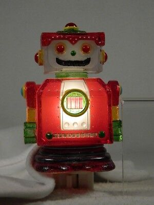Midwest Lights In The Night 'Robot' Night Light Swivel Plug Base NEW