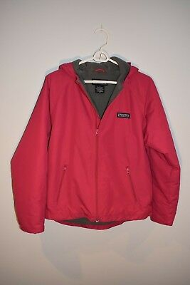 Girls Lands' End Polartec Snow Jacket fleece lined size large with attached hood
