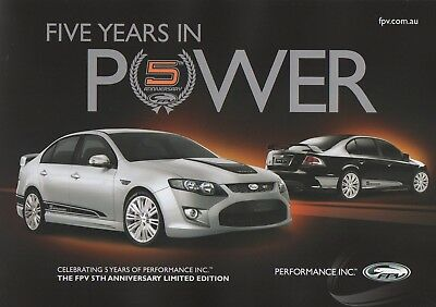 Ford FPV GT 5th Anniversary Limited Edition Brochure