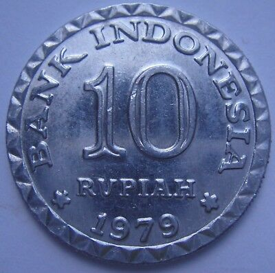 1979 Indonesia 10 Rupiah Coin Collectors Item Good Condition