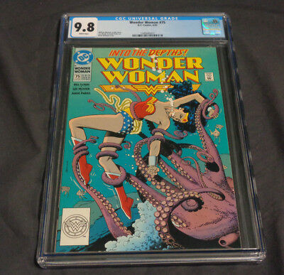 Wonder Woman #75 Dc Comics Copper Age Cgc Graded 9.8 White Pages Bolland Cover