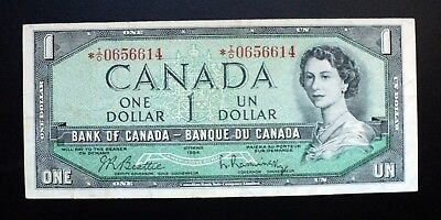 1954 BANK OF CANADA $1 DOLLAR REPLACEMENT NOTE *I/O 0656614 BC-37bA