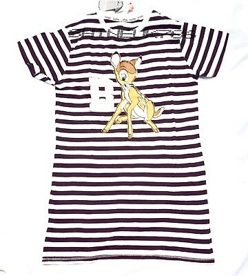 Ladies/Girls Disney official BAMBI Nightdress Nightie PJ long TOP Primark S- XL