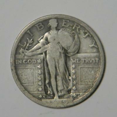 1919 S STANDING LIBERTY QUARTER GOOD CLASSIC AMERICAN COIN SILVER #8991 glb