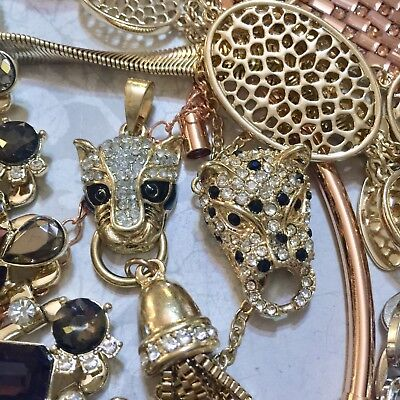 Job Lot Q Broken Jewellery Vintage Style Crafts Recycle Repair DIY Gifts