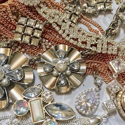 Job Lot X Broken Jewellery Vintage Style Crafts Recycle Repair DIY Gifts