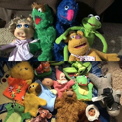 Huge Vintage Toy Puppet Lot Jim Henson Muppets And 30 Year Talking Kermit