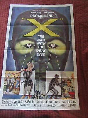 MAN WITH THE X-RAY EYES, AIP Roger Corman, Ray Milland, Don Rickles