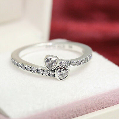 Pandora FOREVER HEARTS Ring #191023CZ 5, 6, 7, 7.5, 8.5, 9  Valentines Day Gift