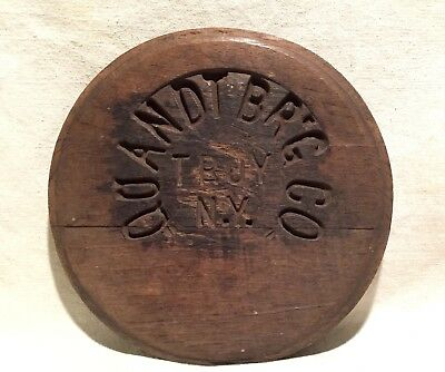 Old QUANDT BREWING COMPANY TROY NY Pre Prohibition WOODEN BEER KEG BARREL LID