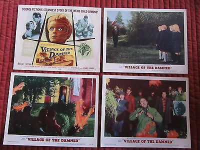 VILLAGE OF THE DAMNED original lobby card set, George Sanders, Barbara Shelley