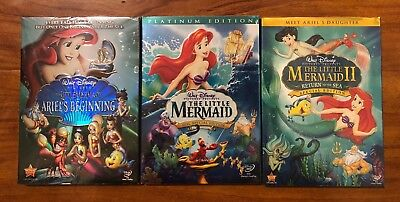 The Little Mermaid 1, 2, & 3 Brand New 3-DVD Trilogy Free Shipping