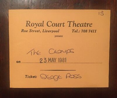 Cramps NICK KNOX'S Backstage Pass (May 23, 1981) Royal Court Theatre Liverpool