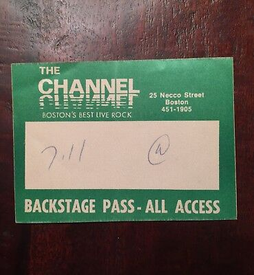 Cramps NICK KNOX'S Backstage Access Pass (July 11, 1981) The Channel Boston RARE
