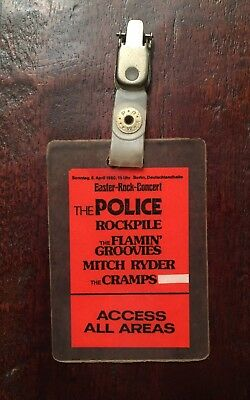 Cramps NICK KNOX'S All Access (April 6, 1980) Berlin Easter Rock Concert Police