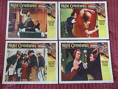 NIGHT CREATURES lobby card set, Hammer Horror Peter Cushing Oliver Reed