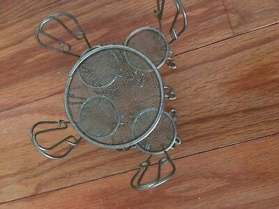 1:12 Miniature Dollhouse FAIRY GARDEN Bistro Furniture Metal Table with 4 Chairs