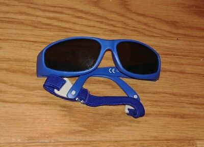 ☆ Baby Boys Sunglasses ☆ size 3 months to 9 months ☆ blue  ☆ with headband ☆