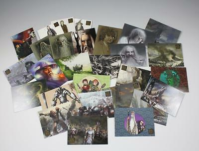 28 Topps Assorted Lord of the Rings Trading Cards EA Paintings Foil Portraits