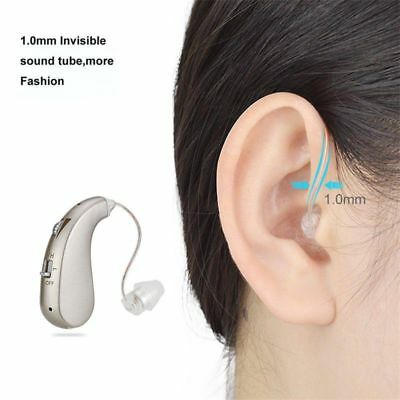 Invisible 40 Hours Rechargeable BTE Digital Hearing Aid Amplifiers  Severe Loss