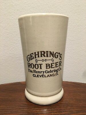 """Gehring's Root Beer Mug Cleveland O. """"Henry Gehring Co."""" - RARE Prohibition Era"""