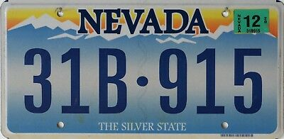 "USA Number Licence Plate NEVADA  ""THE SILVER STATE"" CURRENT FLAT SERIES"
