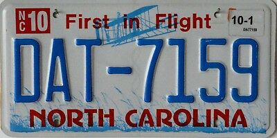 "USA Number Licence Plate NORTH CAROLINA ""FIRST IN FLIGHT"""