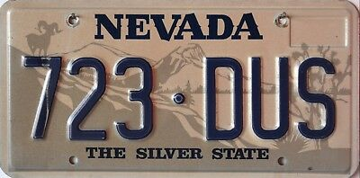 "USA Number Licence Plate NEVADA  RAM ""THE SILVER STATE"""
