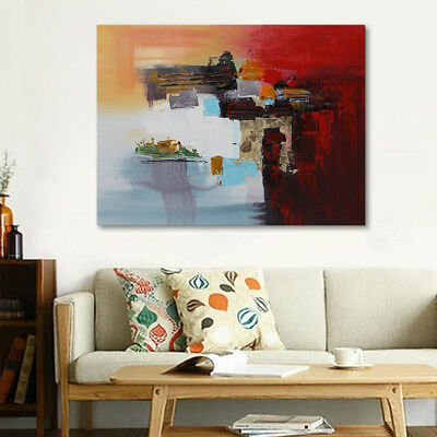 Modern Abstract Hand-painted Art Oil Painting Wall Decor Stretched Canvas Framed