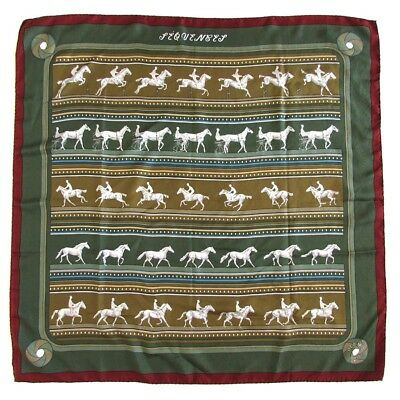 *LOVE THIS!* Authentic Vintage HERMES PARIS Sequence Horse Print Silk Scarf