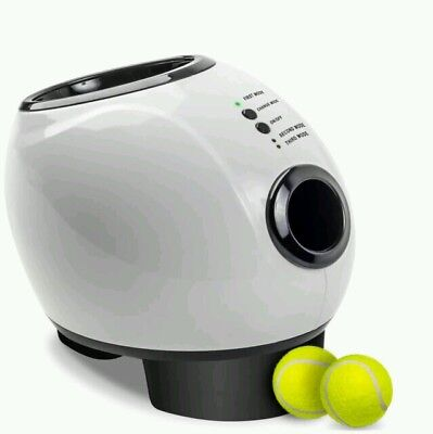 Automatic Ball Launcher Dog Fetch Toy Pet Tennis Ball Thrower with Treat Drawer