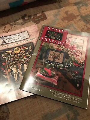 Two Pattern Books For Rug Hooking Needle Punch And Wool Projects Or Stitching