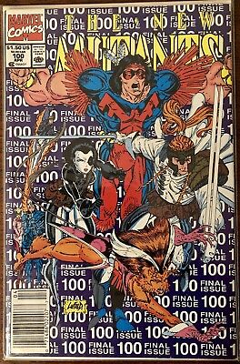 The New Mutants #100 (Apr 1991) NM Newsstand Variant 1st App Of X-Force Team!