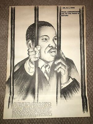 Rare Old Dr Martin Luther King Mlk Day Birmingham Vintage Jail Picture History