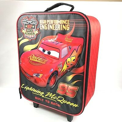 2e01f1f4f49a CARS MCQUEEN ROLLING Bag 3D Shape Luggage Travel Trolley Roller Bag ...