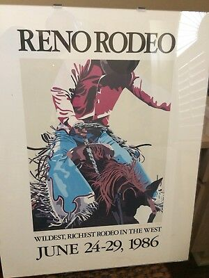 1986 Reno Rodeo Official Poster