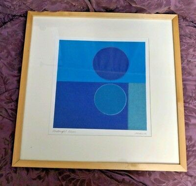"Artist AMAINA ""Midnight Moon"" Lithograph Artwork Signed & Framed Print"