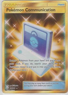 Pokemon TCG SM Team Up 196/181 Pokémon Communication Secret Rare Card