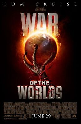 WAR OF THE WORLDS - D/S 27x40 Original Movie Poster One Sheet Tom Cruise