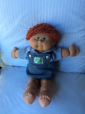 CABBAGE PATCH DOLL BOY WITH CURLY WOOL HAIR  Lovely Condition