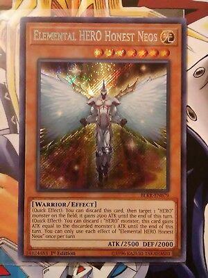 Elemental HERO Honest Neos (BLRR-EN079)Secret Rare-1st Ed. (GEM MINT)