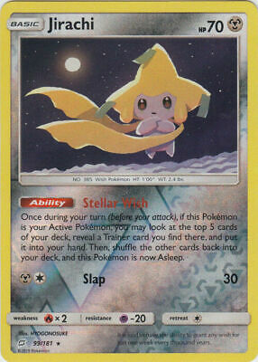 Pokemon TCG SM Team Up 99/181 Jirachi Reverse Holographic Rare Card