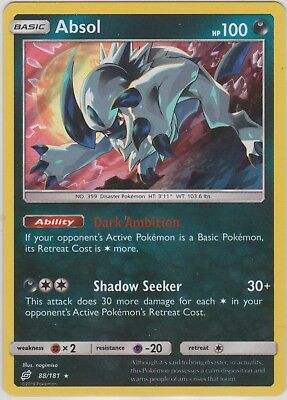 Pokemon TCG SM Team Up 88/181 Absol Holographic Rare Card