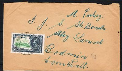 nigeria 1935 silver jubilee 2d on cover to bodmin cornwall